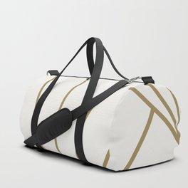 Diamond Series Sun Burst Gold on White Duffle Bag