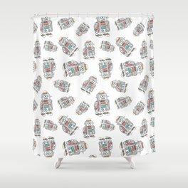 Robot Pattern Shower Curtain