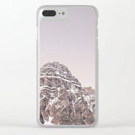 Mountain Sunrise Photography Landscape | Blush tones | Adventure Clear iPhone Case
