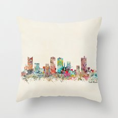 forth worth texas Throw Pillow