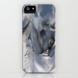Nude in clouds iPhone Case