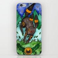 umbreon iPhone & iPod Skins featuring Eeveevolution Series - Umbreon by Jazmine Phillips