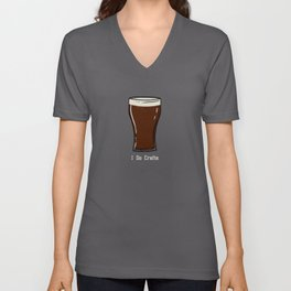 I do crafts - Dark craft beer Unisex V-Neck