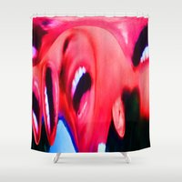 scream Shower Curtains featuring Scream by NaturePrincess