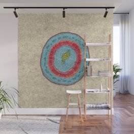 Growing - Hoya - plant cell embroidery Wall Mural
