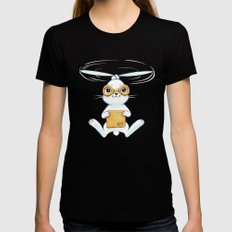 Postal Bunny Womens Fitted Tee Black X-LARGE