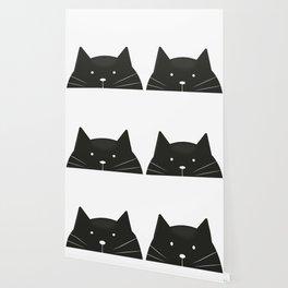 Cute cartoon black cat Wallpaper