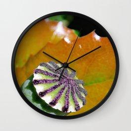 poppy case Wall Clock