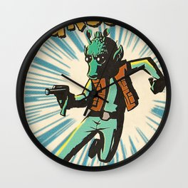 Greedo Vintage Comic Cover Wall Clock