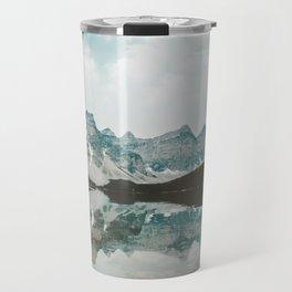 Moraine Lake Mountain Reflection Summer Travel Mug