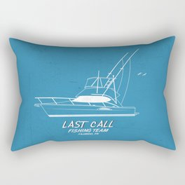 Last Call Boat Rectangular Pillow
