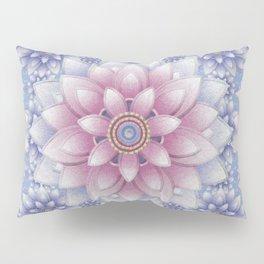 Embroidered Rose Quartz & Serenity Pillow Sham