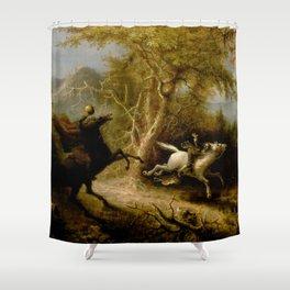 John Quidor Legend of Sleepy Hollow Headless Horseman Pursuing Ichabod Crane 1858 Shower Curtain
