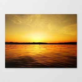Fire on Dark Seas Canvas Print