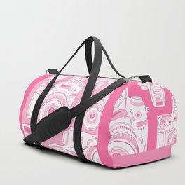 Cute Pink Camera Pattern Duffle Bag