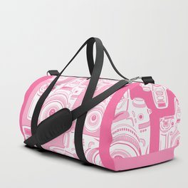 Cute Pink Camera Pattern Duffle Bag