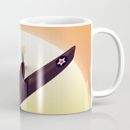 Vintage fighter plane Coffee Mug