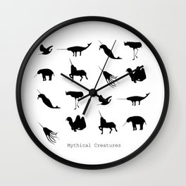 Typology of Mythical Creatures Wall Clock