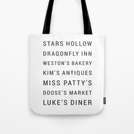 Gilmore Girls Locations & Places Tote Bag