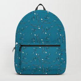 Wolfpack (pattern on aqua) Backpack