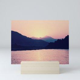 Romantic Pastel Pink Sunset #1 #art #society6 Mini Art Print