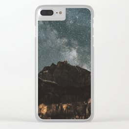 Space Night Mountains - Landscape Photography Clear iPhone Case
