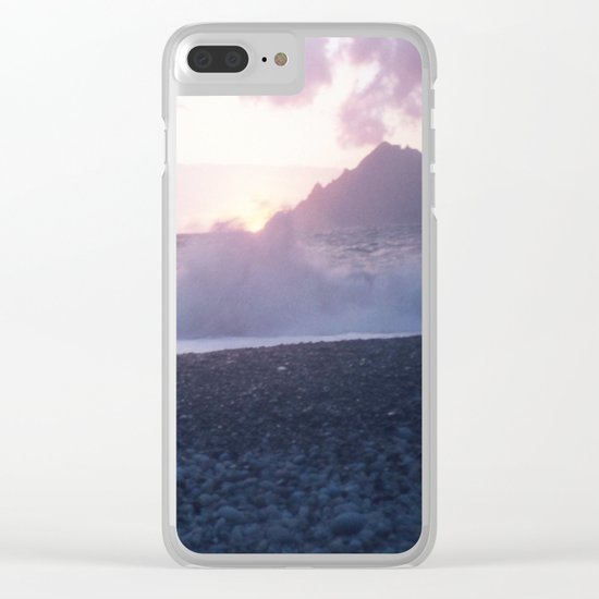Crash into me - Romantic Sunset @ Beach #2 #art #society6 Clear iPhone Case