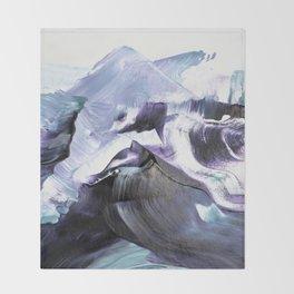 Glacier Mountains Throw Blanket