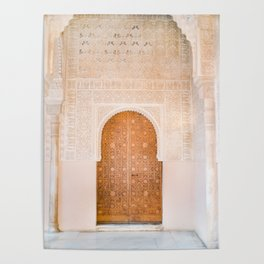 Alhambra door | Granada Spain travel photography | Bright and pastel colored photo art print Poster