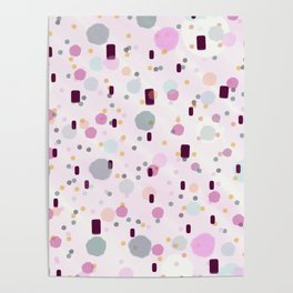 Watercolor Splash Effect Pattern Poster