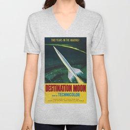 Destination Moon Unisex V-Neck
