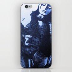 nude male blue iPhone & iPod Skin