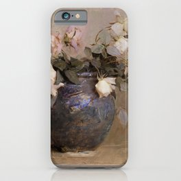 Abbott Handerson Thayer - Roses - Digital Remastered Edition iPhone Case