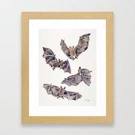 Bat Collection Framed Art Print