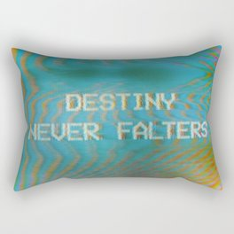 Analogue Glitch 'Destiny Never Falters' Rectangular Pillow