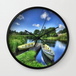Padarn Boats Wall Clock