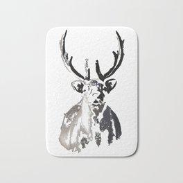 High arctic reindeer Bath Mat
