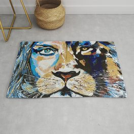 Woman Lion «Face to Face» Rug