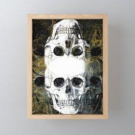 Skull Graffiti 1.0 Framed Mini Art Print