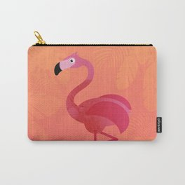 Kids Room Flamingo on Coral – Illustration for Boys and Girls Carry-All Pouch