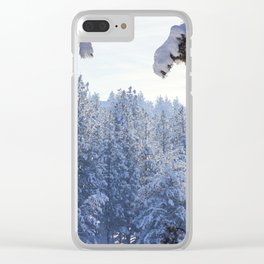 Winter Wonderland - Awbrey Meadow in Central Oregon Clear iPhone Case