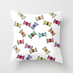 Candy all over Throw Pillow