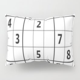 Sudoku Series: Hard Level - Mono Pillow Sham