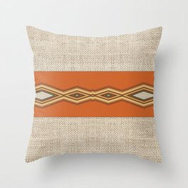 Southwestern Earth Tone Texture Design Throw Pillow
