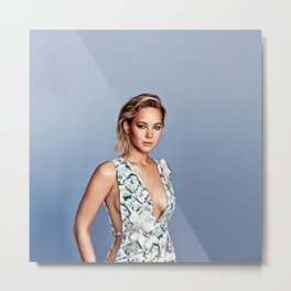 Jennifer Lawrence - Celebrity Art Metal Print