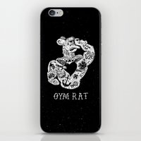 gym iPhone & iPod Skins featuring Gym Rat by Textures