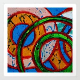 Composition #20A by Michael Moffa Art Print