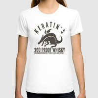 whisky T-shirts featuring Keratin's Dragon Distilled Whisky by critjuice