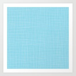 Happy Pattern Neck Gator Blue and White Art Print