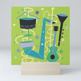 Midcentury Modern Fifties Jazz Composition Mini Art Print